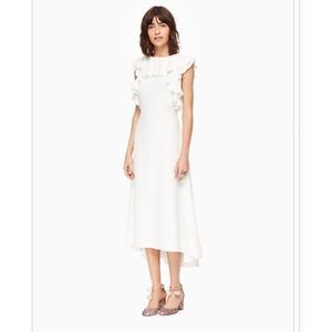 Kate Spade white ruffle dress